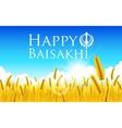 Happy Baisakhi vector image vector image