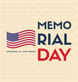 happy memorial day background card vector image vector image