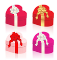 heart shaped gift boxes vector image