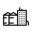 heaters with residential buildings icon vector image vector image