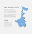 india country map west bengal state template