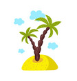 island with palm isolated icon vector image