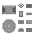 isolated object grass and game icon set of vector image