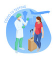 isometric traveling during pandemic covid-19 vector image vector image