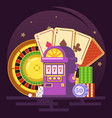 jackpot slot machine royal casino club chips vector image