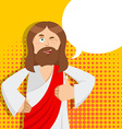 Jesus hands shows thumbs upl Son of God Signs all vector image
