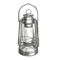 kerosene lamp vintage decorative decoration vector image