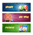 lottery jackpot banners set vector image vector image