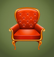 Luxury armchair on gray vector image vector image