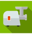 Meat grinder flat icon vector image