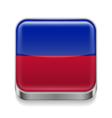 Metal icon of Haiti vector image vector image