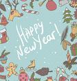 New year seamless border Endless Christmas vector image vector image