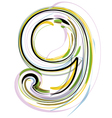 Organic Font number 9 vector image vector image