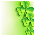 Patricks day background with stylish leaf clover vector image vector image