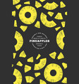 pineapples pieces design template hand drawn vector image vector image