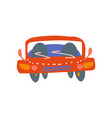 red car front view cartoon vector image vector image
