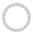 round frame - silver chain on the white background vector image vector image