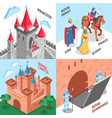 royal castle design concept vector image vector image