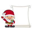 santa claus with parchment vector image vector image