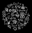 Science icon on black vector image vector image
