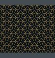 seamless pattern elegant linear ornament vector image vector image