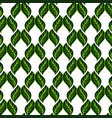 seamless white pattern with green leaves vector image vector image