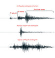 seismogram set vector image vector image