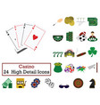 set of 24 casino icons vector image vector image