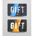 set of gift cards with floating sheets of paper vector image