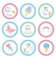 set of tags with birthday theme set of tags with vector image vector image