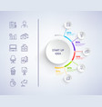 set up idea infographic on vector image