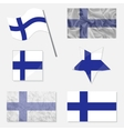 Set with Flags of Finland vector image vector image