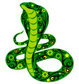 snake green vector image vector image
