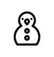 snowman icon christmas symbol vector image