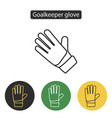 soccer goalkeeper glove vector image