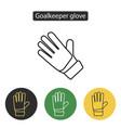 soccer goalkeeper glove vector image vector image