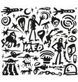 space aliens - doodles vector image