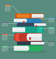 Stack of books infographic vector image vector image