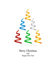 stylized ribbons christmas tree vector image