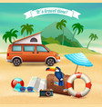 summer realistic holidays poster vector image
