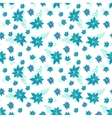 Vintage blue and white floral seamless pattern vector image vector image