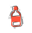 water bottle icon in comic style plastic soda vector image