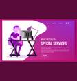 website page business website site scheme vector image vector image
