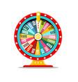 wheel of fortune symbol money game icon casino vector image vector image