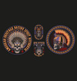 with skulls warriors vector image
