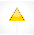 Yellow traffic sign vector image vector image