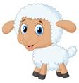 Cute lamb cartoon vector image
