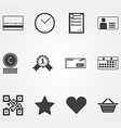 Contour icons for online shopping process vector image