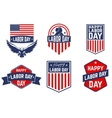 Set of Labor Day greeting card badge and vector image