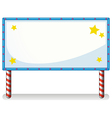 A white board with series lights vector image vector image